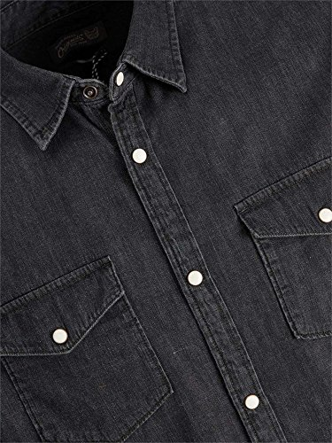 JACK&JONES 12123776 ONE SHIRT HEMD Harren BLACK DENIM XS