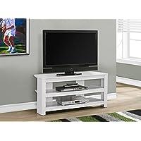 42L WHITE CORNER TV STAND