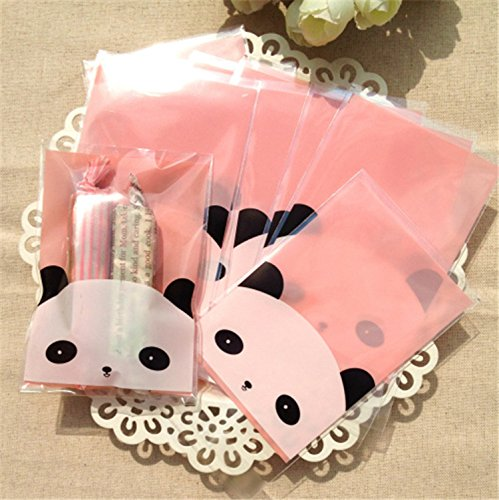 Saasiiyo Bakery Packaging Panda Zakka Ziplock Self Adhesive Kitchen Christmas Gift Cartoon Plastic Cookie Pastry Biscuit Package Gift Bag - Rent A Panda Costume