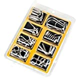 IQ Test Mind Game Toys Brain Teaser Metal Wire Puzzles Metal IQ Puzzle Set of 8