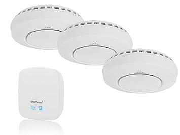 Smart Home - Juego de 3 detectores de Humo con Alarma para ...