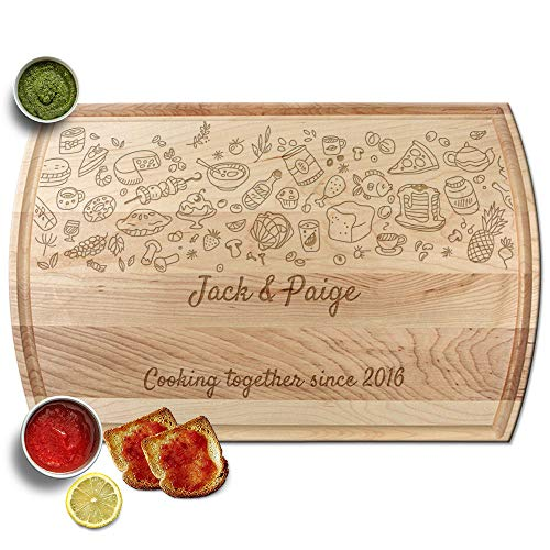 - Froolu Food Ingredients butcher cutting board for Couples Name Monogram Christmas Gifts
