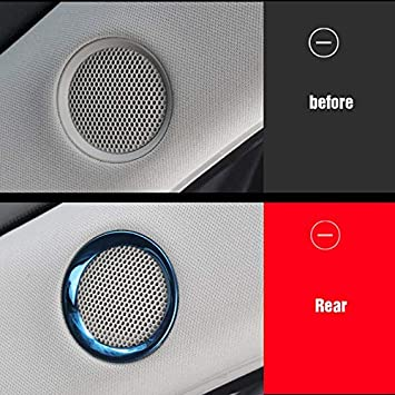 for Mazda CX-5 CX5 2017 2018 2019 Speaker Sound Ring Trim Cover Stainless Steel Decoration Interior mouldings Accessories Huanlovely for car