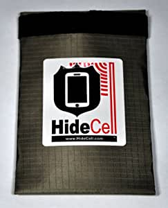 HideCell Cell Phone Privacy Protection Bag, Standard Phone Size: QuadShield 65 dB Faraday Cage Signal Blocking
