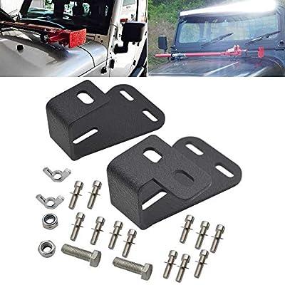 XJMOTO Jack Mount Hood Bracket Fits Jeep Wrangler CJ (1994-1986) / YJ (1987-1995) / TJ (1997-2006): Automotive