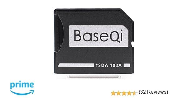 BASEQI - Adaptador microSD de aluminio para MacBook Air de 13 pulgadas y MacBook Pro de 13 pulgadas y 15 pulgadas (sin retina)
