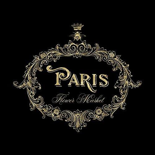 - Paris Flower Market in Gold by Tina Lavoie Art Print, 18 x 18 inches