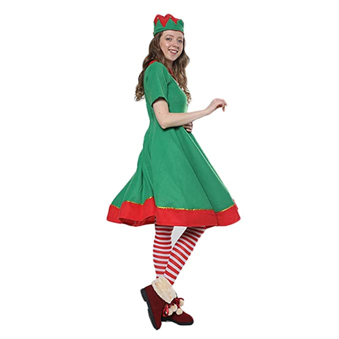 Amazon.es: LHZTZKA Lady Christmas Elf Set,Disfraz de Duende ...
