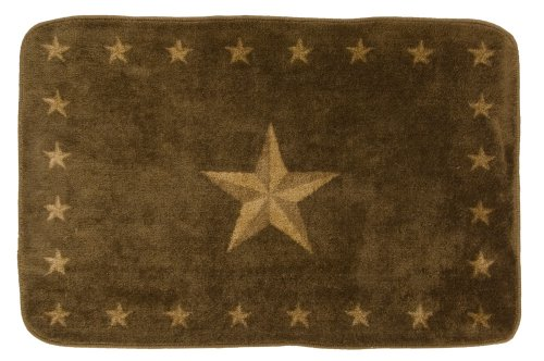 HiEnd Accents Western Star Rug, Dark - Bath Accessories Stars