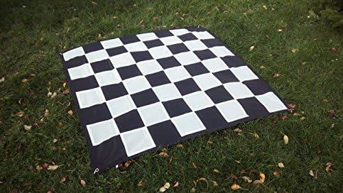 SchachQueen – E331 – Tablero de ajedrez Gigante Casillas 32 cm Negro/Blanco: Amazon.es: Juguetes y juegos