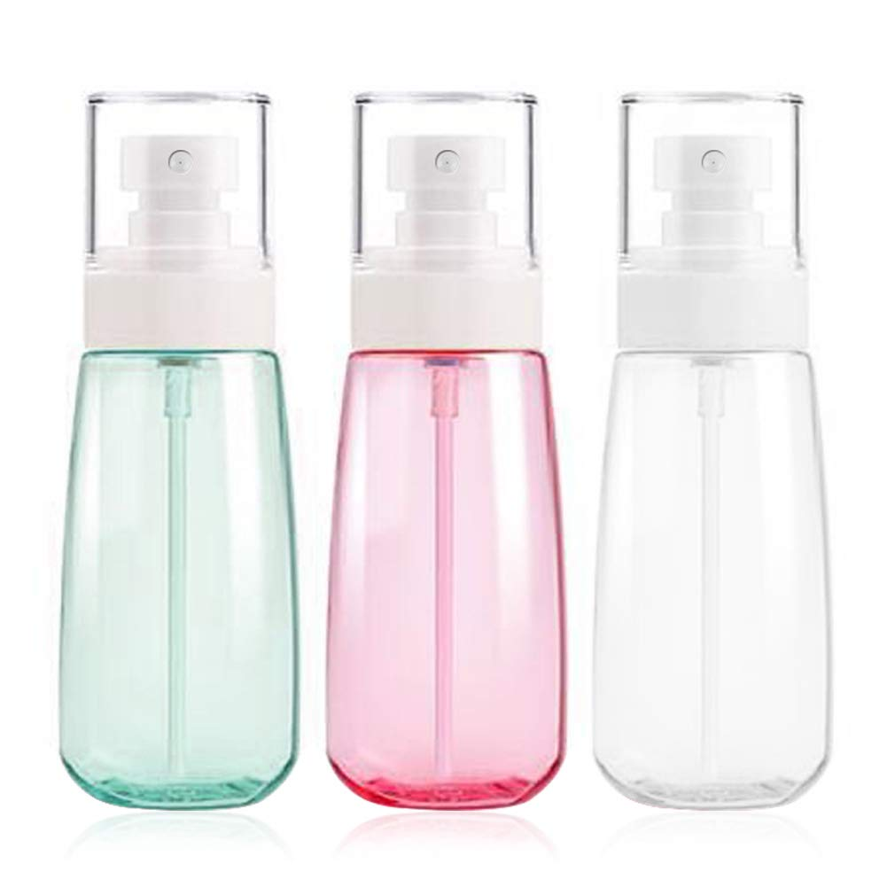 Fine Mist Spray Bottle 3.4oz 100ml Empty Cosmetic Refillable Travel Containers Plastic Hair Spray Bottle Sprayer for Perfume Skincare Makeup Lotion 3 Pack