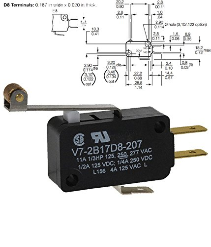 Basic / Snap Action Switches SPDT 11A 250V 215gf NO SEAL PIN PLUNGER