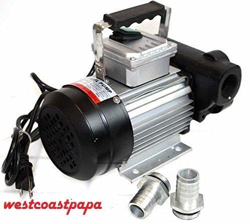 Westcoastpapa 110V AC 16GPM Oil Transfer Pump Fuel Diesel Kerosene Biodiesel 60