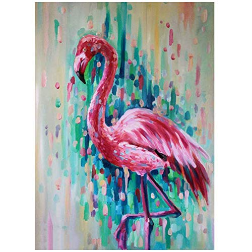 ACANDYL Paint by Number Flamingo DIY Oil Painting Paint by Number Kit for Kids Adults Students Beginner DIY Canvas Painting by Numbers Acrylic Oil Painting Arts Craft for Decoration Flamingo 16x20 in