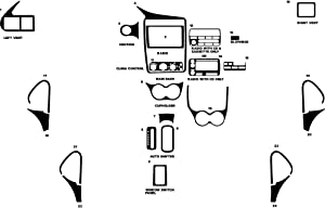 Rvinyl Rdash Dash Kit Decal Trim for Chevrolet Cavalier 2000-2005 - Wood Grain (Burlwood Dark)