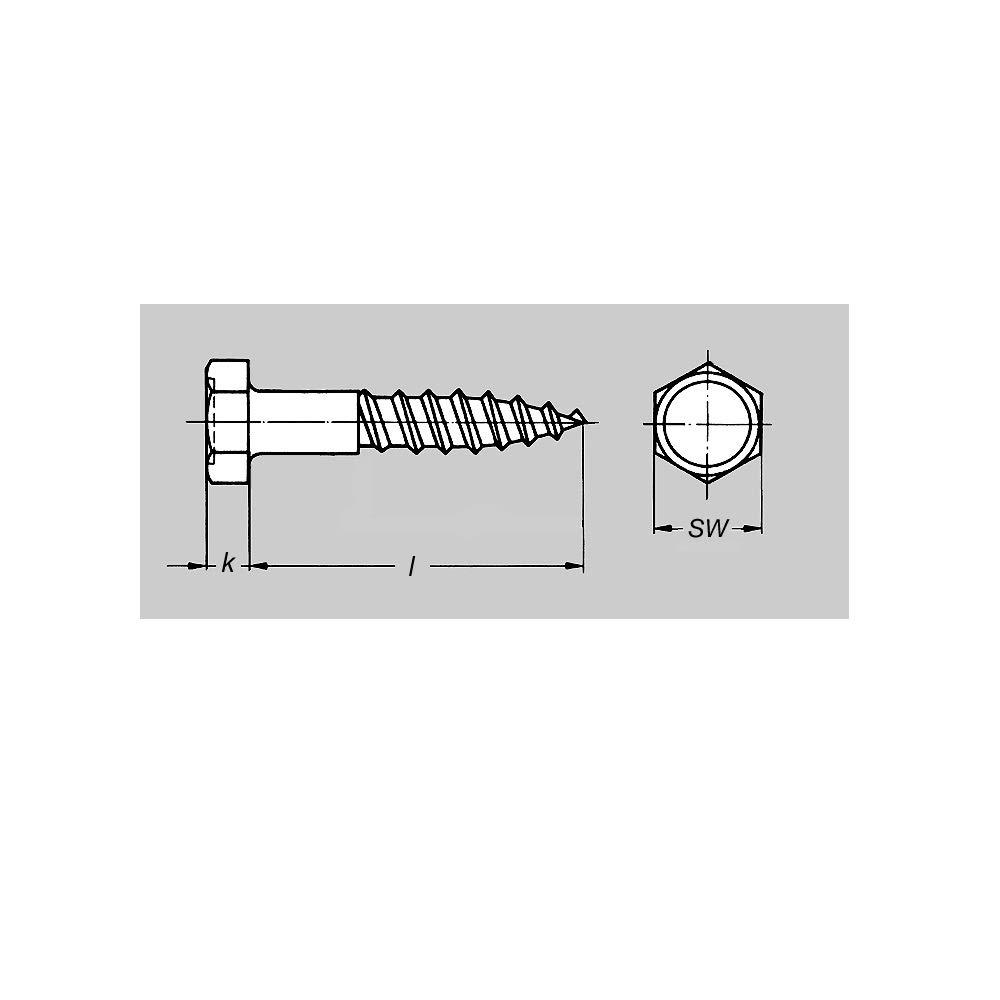 Schl/üsselschrauben DIN 571 Schl/üssel Schraube 8 x 120 mm 25x Sechskant Holzschrauben Sechskantschraube D/übel Holz Schrauben Stahl verzinkt ARLI 8 x 120 mm 25 St/ück DIN571
