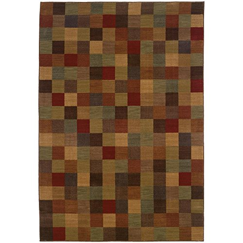 Allure Sphinx (Oriental Weavers 3A Allure Area Rug, 3-Feet 10-Inch by 5-Feet 5-Inch, Brown/Red)
