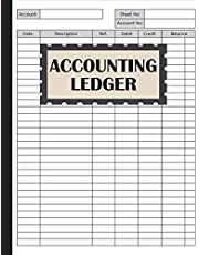 Accounting Ledger: An Accounting Notebook for Bookkeeping Record Book