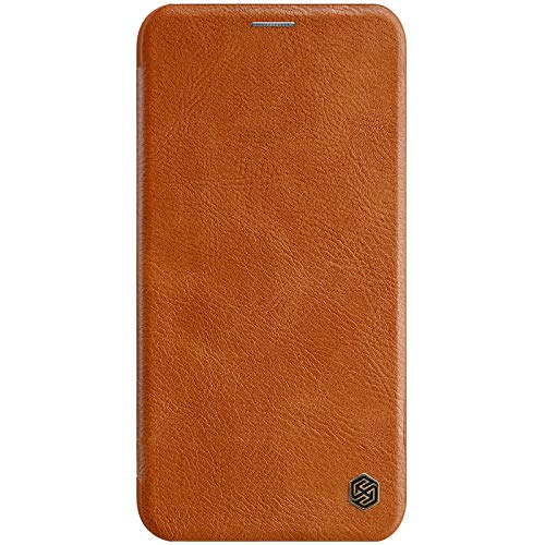 Nillkin Qin Series Luxury Leather Wallet Flipcover for Apple iPhone XI/iPhone 11  6.1 inch   Brown