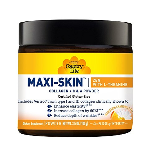 Maxi-Skin Zen with L-Theanine Country Life 3.5 oz (100 g) Powder