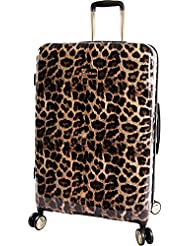 BEBE Womens Luggage Adriana 29 Hardside Check in Spinner, Leopard