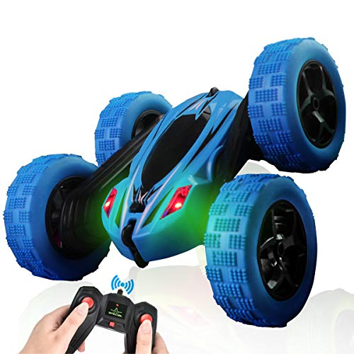 ArgoHome RC Car Remote Control Car RC Stunt Car, 360 Degree Flips Double Sided Rotating Race Car, Remote Controlled Car for Kids, 4WD Monster Truck Tumbling Crawler Vehicle, Best Gift for Kids, Blue