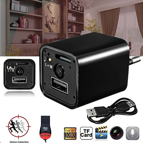 Spy Camera USB charger HD1080P Hidden cam 32 GB SD Included surveillance cam Nanny, hotel, monitor motion detection by AR1 (Image #4)