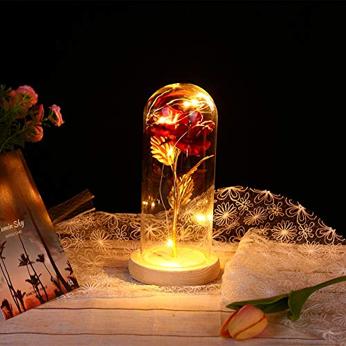 Balai Beauty and The Beast Red Gold-Plated Rose