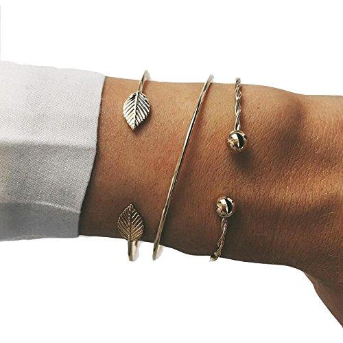 Bohemia Leaf Knot Hand Cuff for Women ()