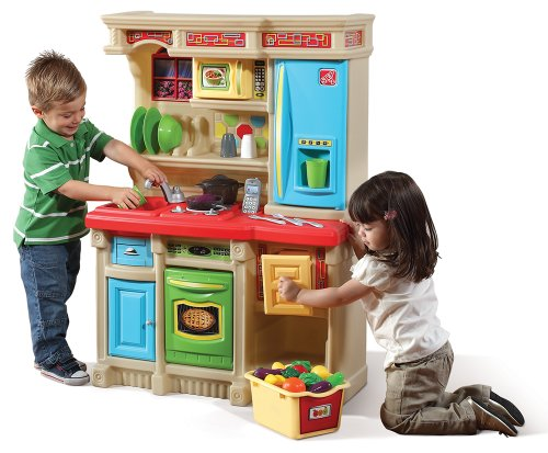 Step2 Lifestyle Custom Kitchen Playset for Kids - Durable Cooking Pretend Toys...