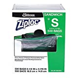 Ziploc Resealable Sandwich Bags, 1.2mL, 6 1/2 x 6, Clear, 500/Box