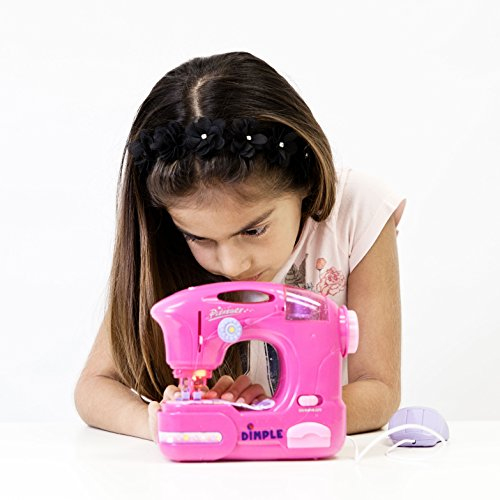 Children's Sewing Machine Toy with Accessories and Hand Peda