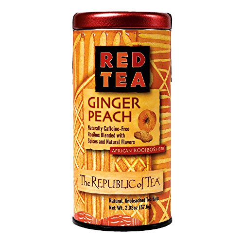 Republic Of Tea, Red Ginger Peach Red, 36 Count ()