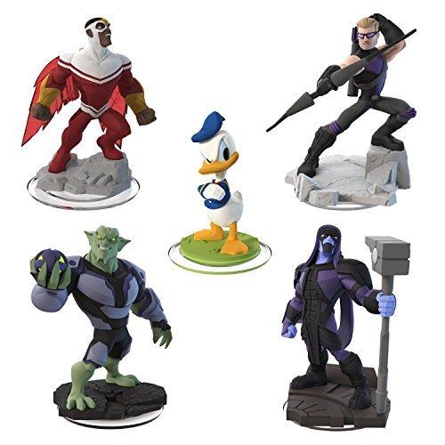 Disney Infinity 2.0 Edition - 5 Figures - Hawkeye, Ronan, Green Goblin, Falcon and Donald -