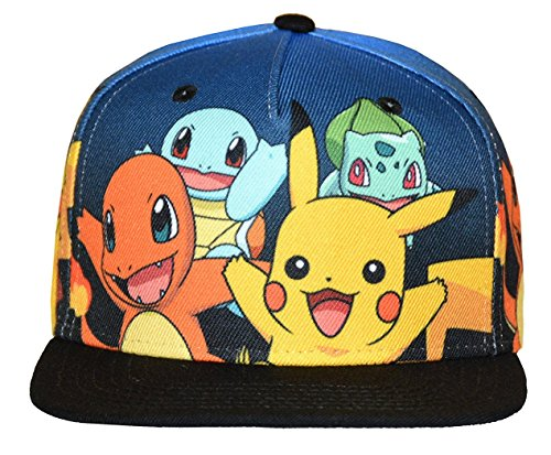 Pokemon-Group-Gradient-Youth-Snapback-Cap-Hat