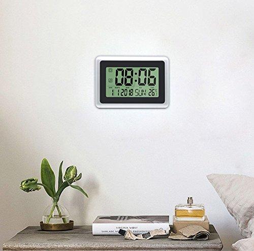 Heqiao Digital Wall Clocks Large Decorative Silent Desk