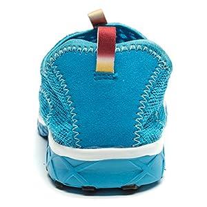 Smapavic Men's and Women's Unisex Mesh Quick Drying Slip On Lightweight Auqa Water Shoes, US 11 Women/US 9.5 Men, Blue (EU Size: 44)