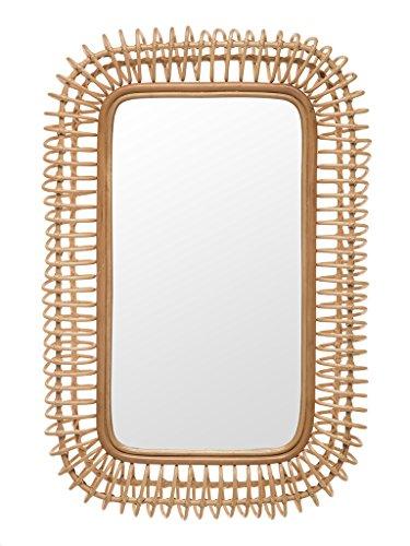 Kouboo 1040156 Rattan Coiled Rectangular Wall Mirror, -