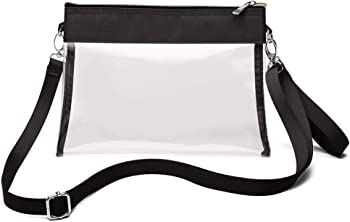 F-color Clear Purse Stadium Approved NFL Concert Clear Bag