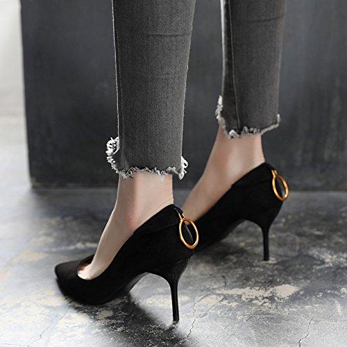 7cm 35 todo Transpirable Con fino match Sandalias elegante alto zapatos Ajunr Negros 36 Moda princesa La tacón Zapatos los de señaló Zapatos nq1B7xI6W