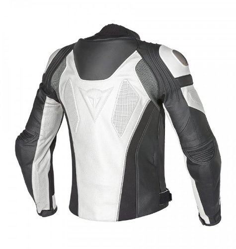 Dainese Super Speed C2 Perforated Leather Jacket (Euro 48/ US 38, White/White/Anthracite)