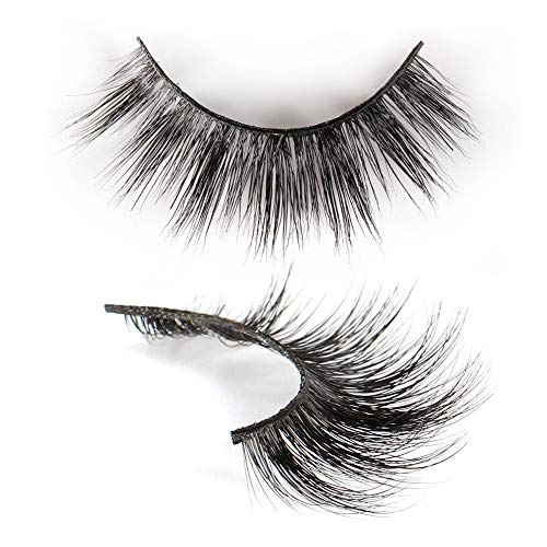3D Mink Lashes Winnie 2 Pairs, 100% Siberian Mink Fur False Eyelashes, Halloween, Christmas Theme False Eyelashes,17mm Dramatic Round Look & Reusable, 100% Cruelty-Free&Handmade-LINGSTAR (D107-Winnie)
