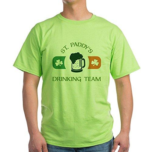 CafePress St. Paddy's Drinking Team Light T Shirt 100% Cotton T-Shirt Green (T-shirt Light Drinking Team)
