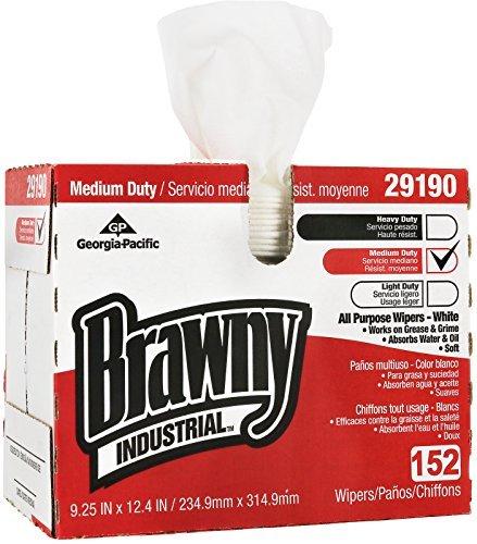 Brawny Industrial White Premium All Purpose DRC Wiper (Box of (Brawny Industrial Drc Wipers)