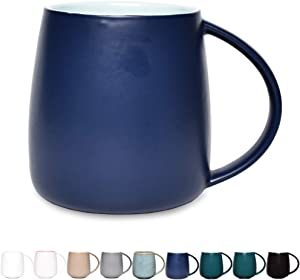 Bosmarlin Matte Ceramic Coffee Mug, Tea Cup for Office and Home, 13 oz, Dishwasher and Microwave Safe, 1 Pack