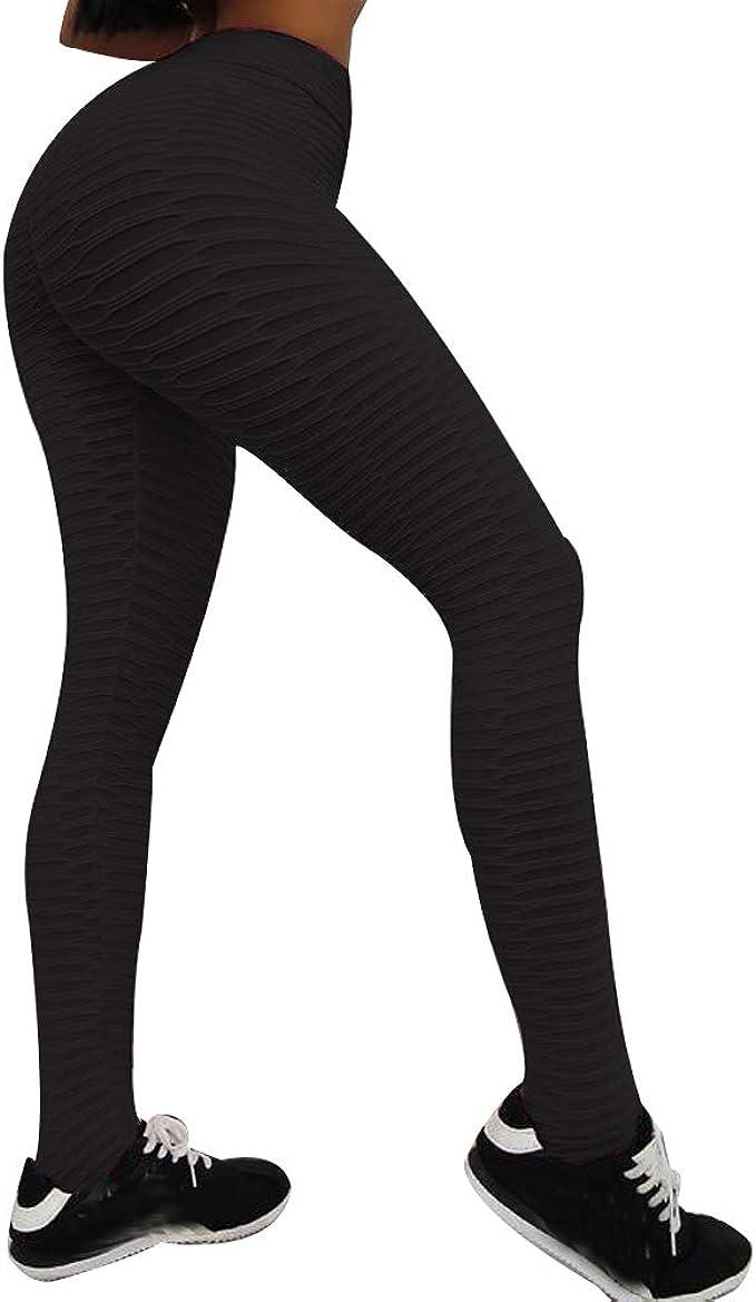 Shujin Leggings de Sport pour Femme Pantalons Longue Anti