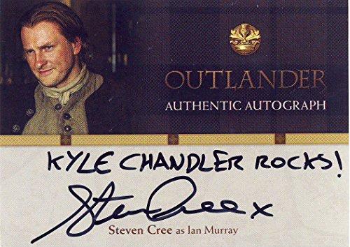 "2016 Outlander Season 1 Trading Cards Autograph Card SC Steven Cree as Ian Murray ""KYLE CHANDLER ROCKS!"" inscription"