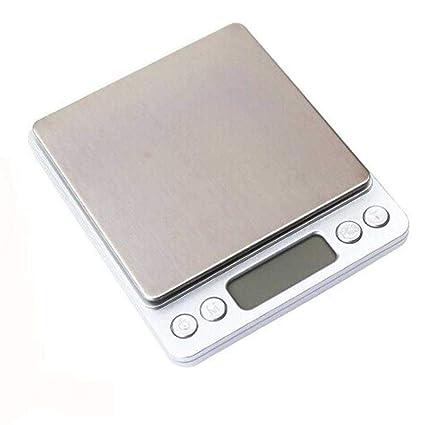 Báscula Digital de precisión electrónica de Bolsillo con Escala LCD, 2000 g/ 0,