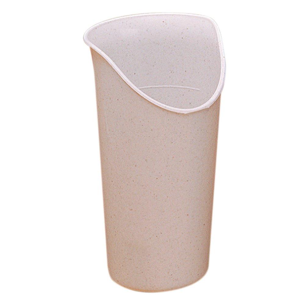 Maddak Ableware 8 Oz Sandstone Polypropylene Nosey Cup - 3 1/8 Dia x 5 1/5 H