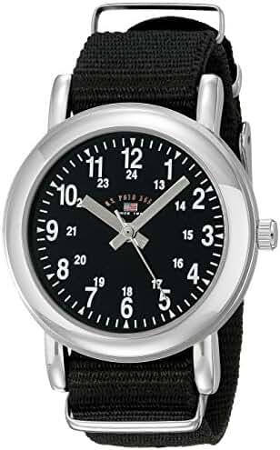 U.S. Polo Assn. Kids' USB75015 Analog Display Analog Quartz Black Watch